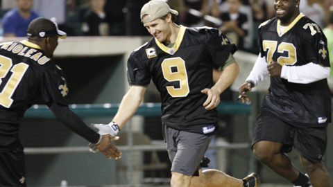 Drew Brees will captain the Saints' offense.